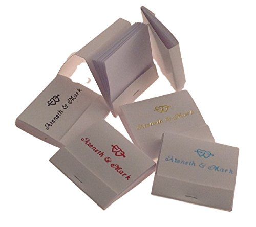 50 Personalized Hot Stamped Imprinted NOTE PADS Match Book Size Wedding Favors