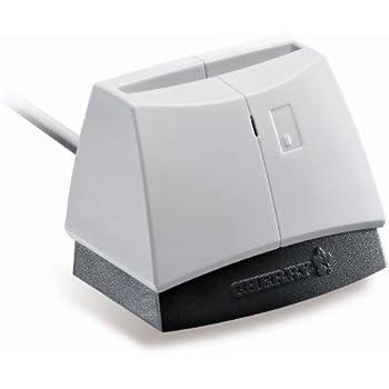 Cherry AP POS ST-1044UB Desktop PC/SC Smart Card Reader with USB Interface, 100 mA Input Current, Black/Light Gray