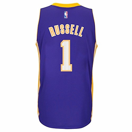 (adidas D'Angelo Russell Los Angeles Lakers Road Swingman Jersey (Purple) (XX-Large))