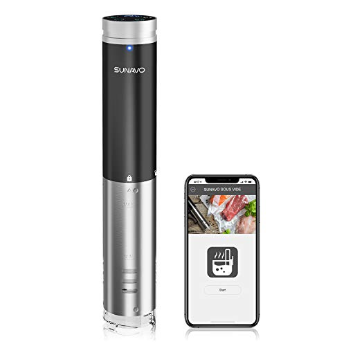 SUNAVO Sous Vide Cooker,WIFI Immersion Circulator Machine 1000W,Thermal Immersion Circulator with Accurate Temperature & Timer Setting,Digital Display Stainless Steel SV-20 by sunavo (Image #8)
