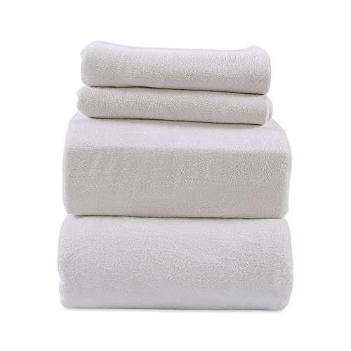 Berkshire Blanket Heavyweight Polarfleece Fleece Sheets, Queen, Moonbeam