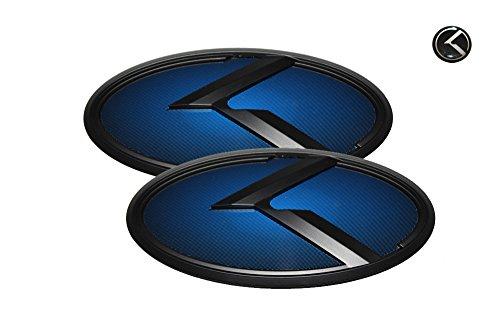 3d k logo emblem blue and black