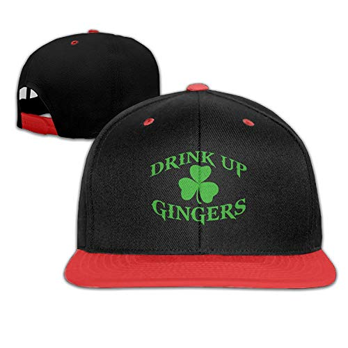Hanfjj Kefdk Drink Up Gingers Shamrock Lucky Clover Hip-Hop Cap Baseball Hats Boy and Girl (Red Clover Christophers)