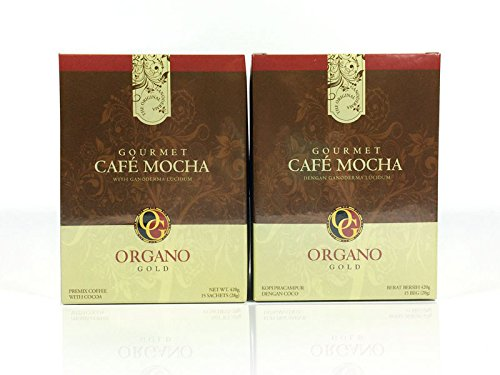 Gourmet Cafe Mocha By Organo Gold Ganoderma Coffee Series (2 Boxes) with Free Gift