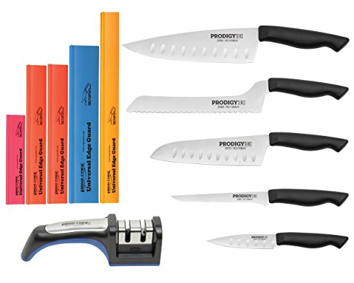 11pc.prodigy Knife Set Chef Knife Santoku Includes 2 Stag...