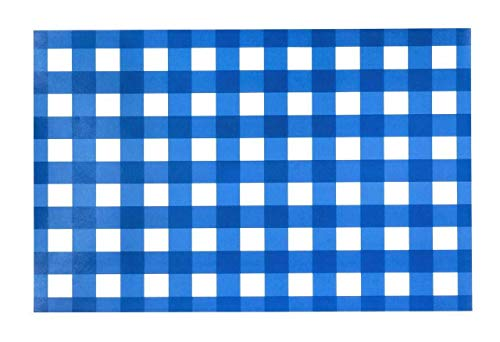 Paper Placemats Table Mats Table Decor Pk 50 Blue Checkered Gingham