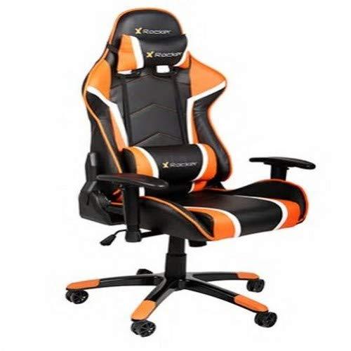 X Rocker Agility Faux Leather Black Orange 56x66x124 Cm