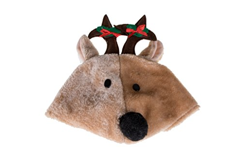 Novelty Christmas Reindeer Hat with Jingle Bells - One Size Fits (Most Clever Halloween Costumes Ever)