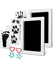 Baby Handprint and Footprint Ink Kits Pads 2 Pack Large Size Pet Paw Print Ink Kits for Babies and Pets