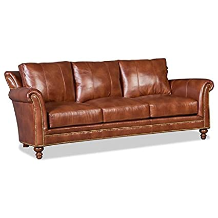 Amazon Com Bradington Young Byx Richardson Leather Sofa Kitchen