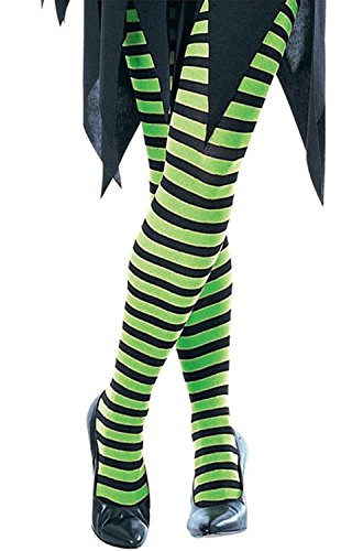 Witch Tights (Forum Novelties 54759 Ad Stripe Tights, Green/Black)