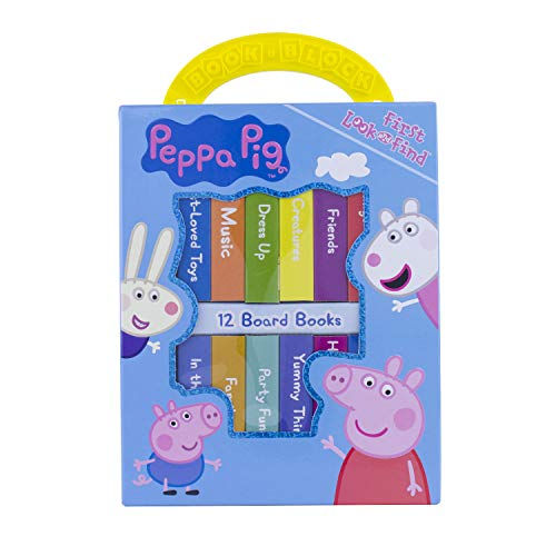 Peppa Pig - My First Library Board Book Block 12-Book Set - PI Kids -