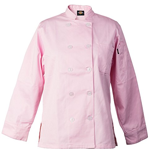 Dickies Chef Women's Bettina Coat,Pink,X-Large -