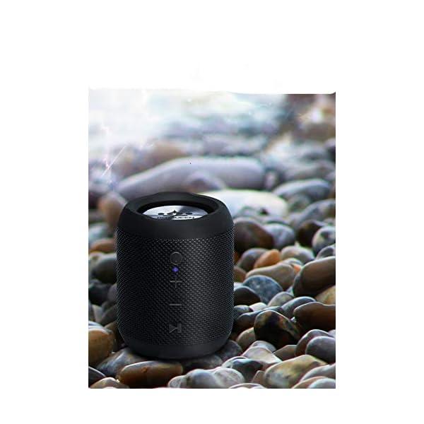 Haut-Parleur sans Fil Bluetooth, Mini Caisson de Basses Puissant et Portable, Bluetooth 4.2, pour l'extérieur, Le Sport, la Famille, Les Voyages et Les fêtes. 2