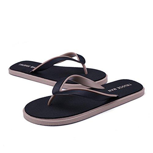 Black Chanclas Slipper Chanclas Tanga LemonGirl Hombres Cómodas Beach Sandal H8nwZqag