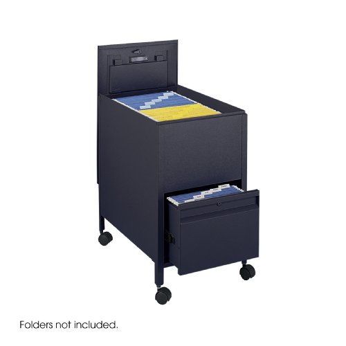 Safco Products 5364BL Locking Mobile Tub File with Drawer, Letter Size, ()