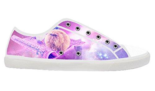 Kvinners Lerret Lave Toppen Sko Med Plass Katt Tema Lerret Kvinner Shoes14