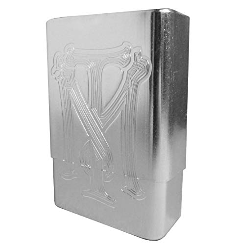 Gifter_Mall Metallic Hard Plastic Scarface Style Cigarette Case (Silver)