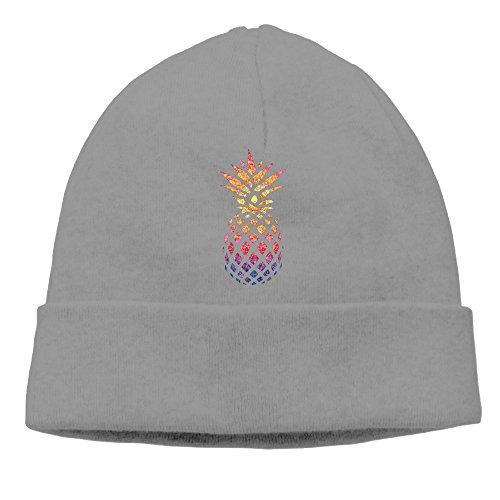 Men Women Pineapple Gifts Colorful Pineapple Hedging Hat Wool Beanies Cap