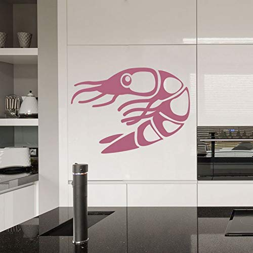 (Lorraine Sweet Sushi Sticker Japan Food Shrimp Decal Crayfish Poster Vinyl Art Wall Decals Sticker Wall Board Decor Mural Sushi Sticker 40x55cm)