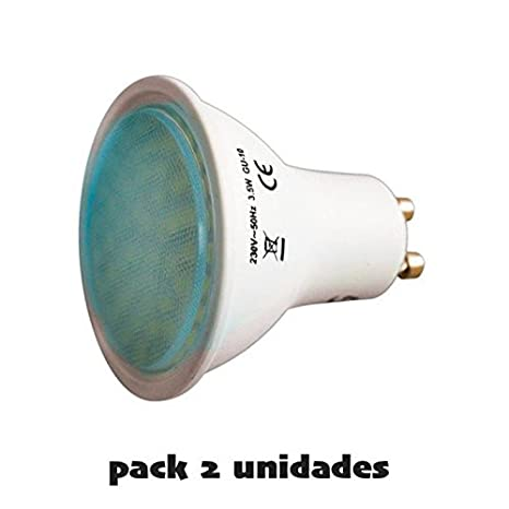 Bombilla GU-10 LED 3,5W Pack 2 uds (luz día