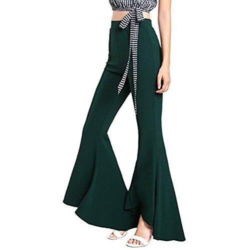 High Trousers nbsp; Colpo Festivo Donna Eleganti Notte La Monocromo Glockenhose Gr Slim Per Party Fashion Waist Di Lunghi Bolawoo Pantaloni Marca Mode wRtq5wxH