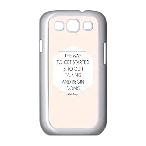 Samsung Galaxy S3 9300 Cell Phone Case White quit talking start doing JSK697066