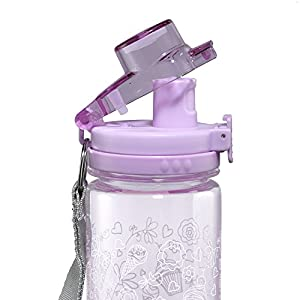 Holly & Hope Purple Plastic Water Bottle - Colossians 3:23