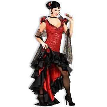 [Spanish Dancer Costume - Small - Dress Size 4-6] (Hispanic Halloween Costumes)