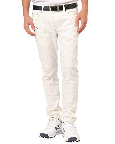 カールカナイゴルフ KARL KANI GOLF ロングパンツ ドライモノグラム総柄スーパーストレッチパンツ ホワイト XL