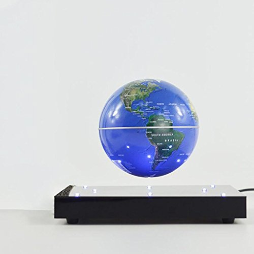 CRAFTS 3 English Inch Magnetic Levitation Globe Creative Birthday Gift High-Grade Desk Ornaments , blue by Crafts