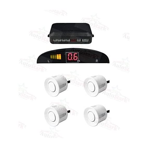 AutoStark Reverse Car Parking Sensor Led Display White
