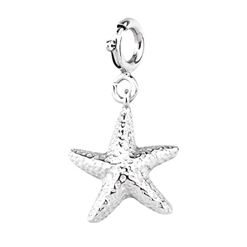 MESMER 925 Sterling Silver Starfish Pendant with a Spring Ring Clasp (Starfish Adult Costume)