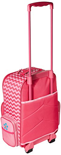 Stephen Joseph Girls' Little Classic Rolling Luggage, Flower- Chevron, 14.5x8.5x18