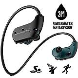 Waterproof MP3 Player, IPX8 Waterproof Headphones for Swimming, 8GB Memory Can Download 2000