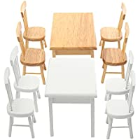 New 1:12 Dining-table Chair Set Dollhouse Miniature Furniture Accessories For Dollhouse By KTOY
