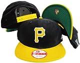 New Era Pittsburgh Pirates Corduroy Black/Yellow Two Tone Plastic Snapback Adjustable Plastic Snap Back Hat/Cap