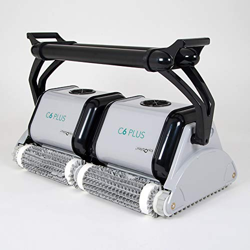 DOLPHIN C6 Plus Commercial Automatic Robotic Pool Cleaner with an Extra-Wide Cleaning Path, Four Scrubbing Brushes and High-Capacity Filtration, Ideal for Institutional Swimming Pools up to 121 Feet.