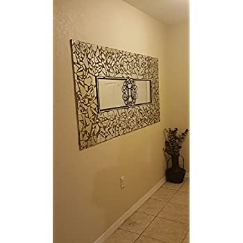 MIRROR TREND Large Bathroom Mirror Venetian Design Wall Hanging Decorative Mirrors With Etching Carved Fits In