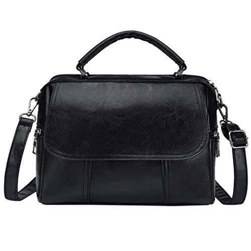 (Tote Bag for Women, Top Handle shoulder bags Large Capacity Satchel Crossbody Bag (Black) )