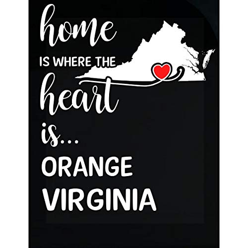 (Inked Creatively Orange County Virginia is Where My Heart is Gift - Sticker)