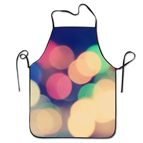 Lights Night Dark Abstract Kitchen Aprons Black