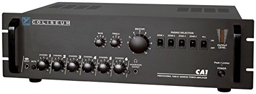 Yorkville CA1 Amplifier 70 Volt 6 Channel Public Address Amp Rack Mountable Steel Chassis Black by Yorkville Sound