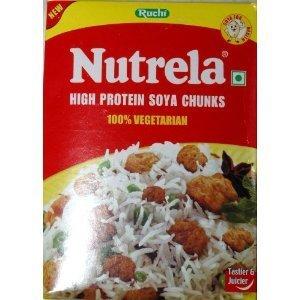 100% Soya Protein (Nutrela High Protein Soya Chunks 200g (Pack of 6))