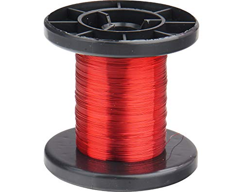 Donau Elektronik LD15-0 Copper enameled Wire 0,15mm 100m red, Multi-Colour, 100 m