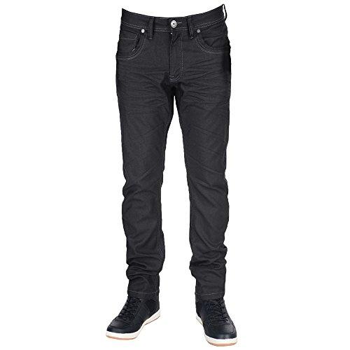 Menzo Slim Uomo Nero Jeans Crosshatch w0qfw