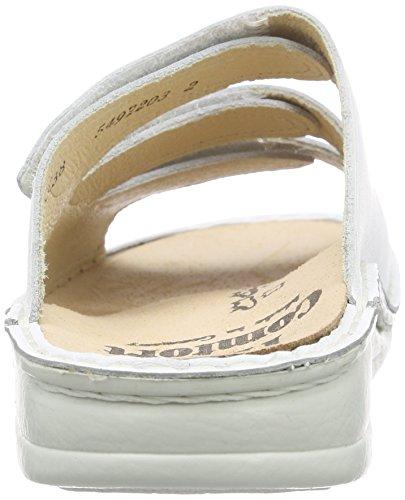 Finn ComfortKorfu - Sandalias de Punta Descubierta Unisex adulto, color Blanco, talla 38