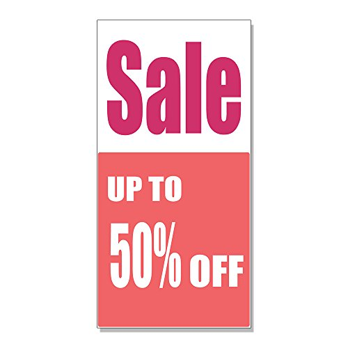 Sale Up To 50% Off Custom DECAL STICKER Retail Store Sign - 19.5 x 48 - To Off Sale 50 Up