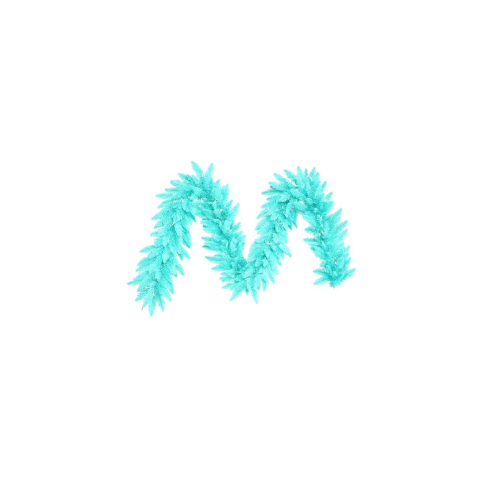 9 x 14 Pre Lit Aqua Blue Fir Artificial Christmas Garland   Aqua Lights