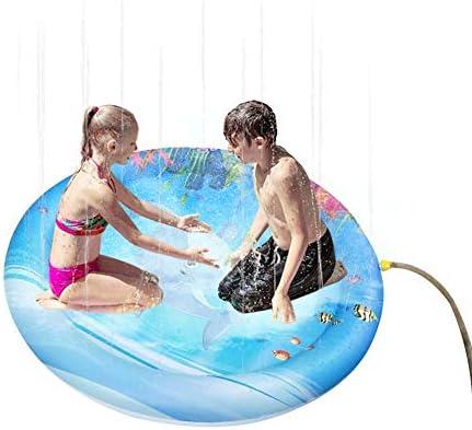 Firlar 噴水マット 噴水おもちゃ インフレータブル 水遊び ウォータープレイ 夏の日 ふんすい プレゼント アウトドア 砂浜 芝生遊び 子供 プレゼント